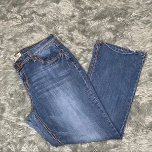 Earl Bootcut Jeans with Thick Stitching